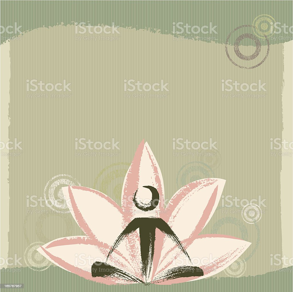 Yoga and Zen Background vector art illustration