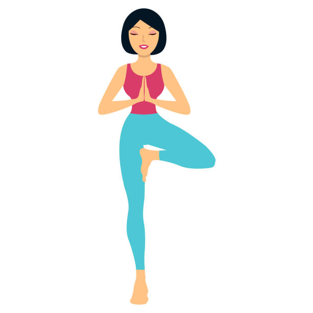 Royalty Free Tree Pose Clip Art, Vector Images ...