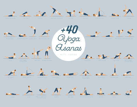 +40 Yoga Asanas with names