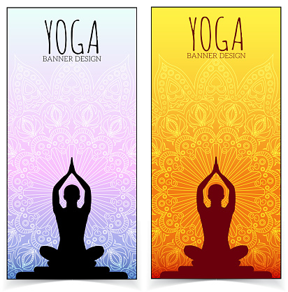 Yoga Banner Collection Stock Illustration Download Image Now Istock