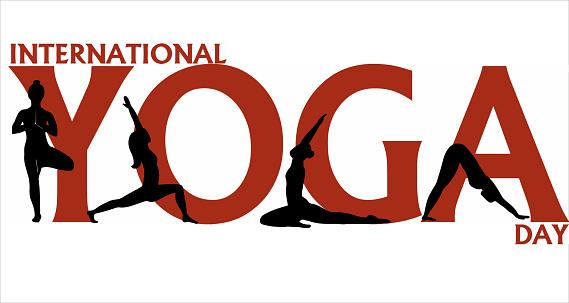 Yoga. Banner International Yoga Day