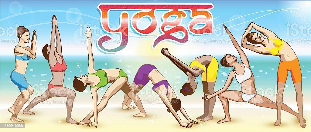Yoga Banner vector art illustration