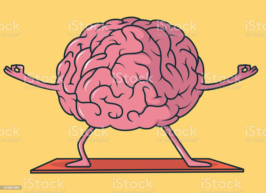 Yoga Brain Vector Illustration Stock Vector Art & More Images of ...