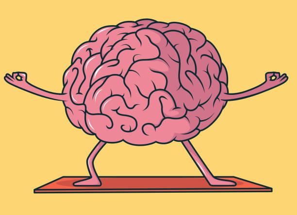 ilustrações de stock, clip art, desenhos animados e ícones de yoga brain vector illustration - active brain