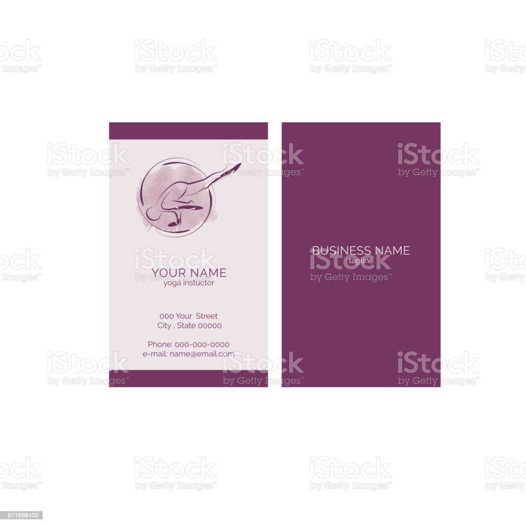 Carte De Visite Yoga Cliparts Vectoriels Et Plus D