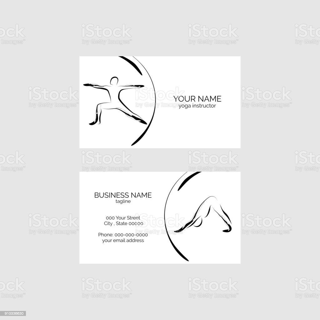 Tarjeta de visita de la yoga - ilustración de arte vectorial