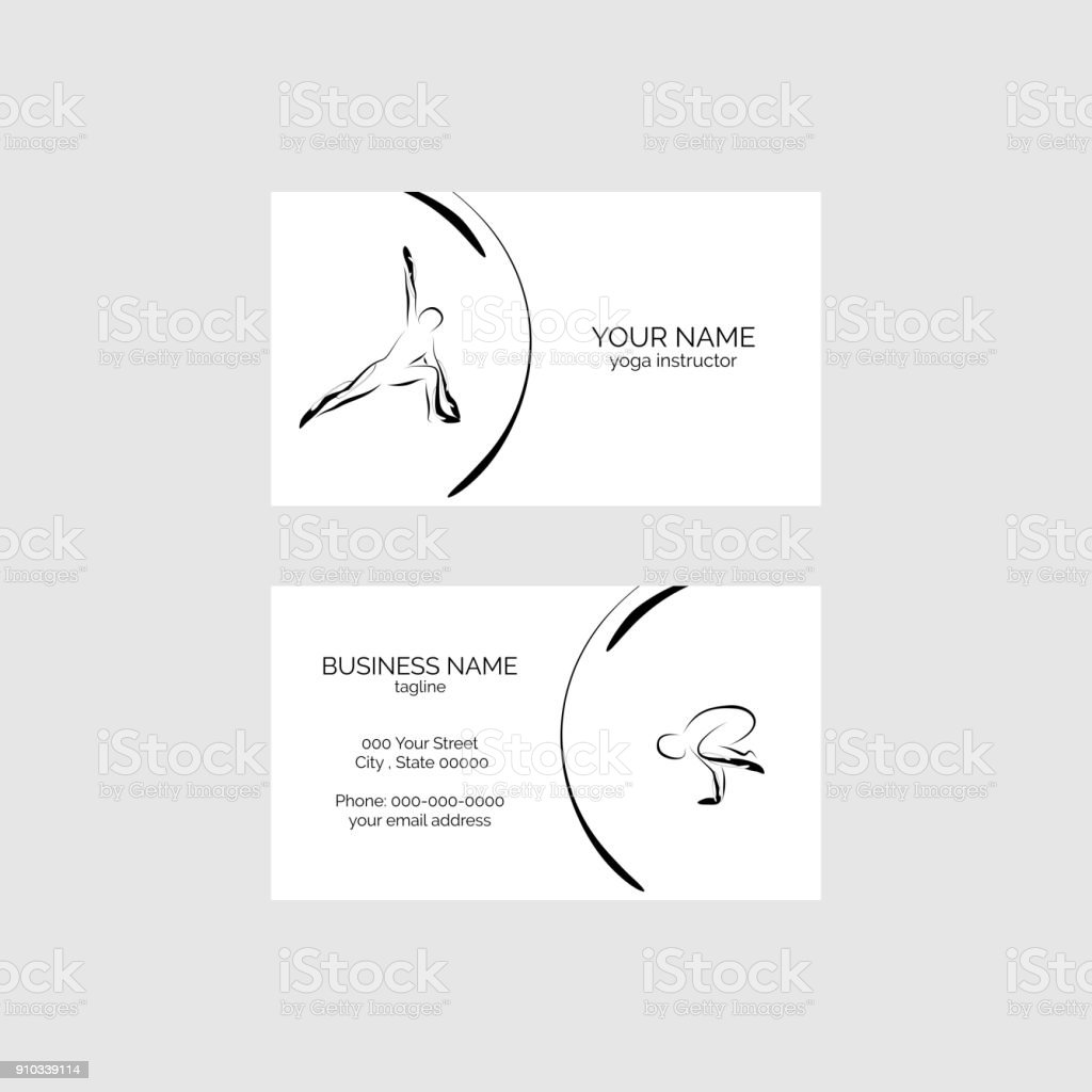 Yoga Business Card Stock Vector Art & More Images of Adult 910339114 ...
