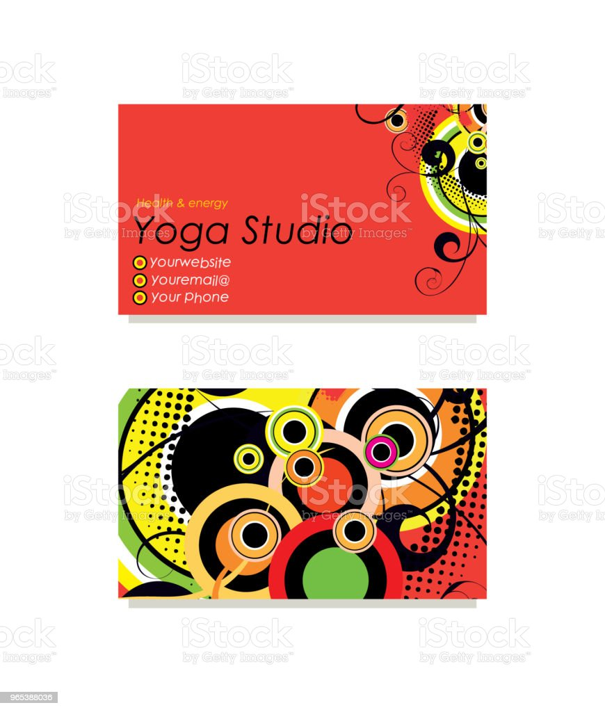 Yoga business card royalty-free yoga business card stock vector art & more images of abstract