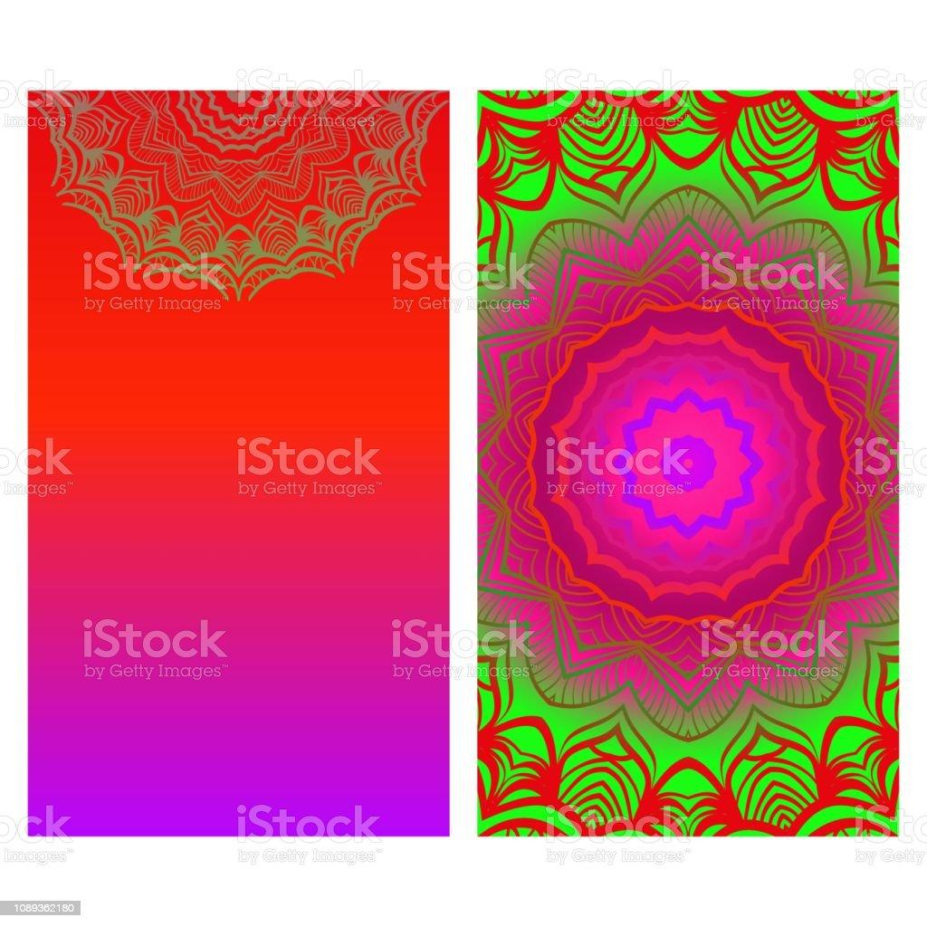 Yogakarte Mit Mandalamuster Vorlage Für Visitenkarten