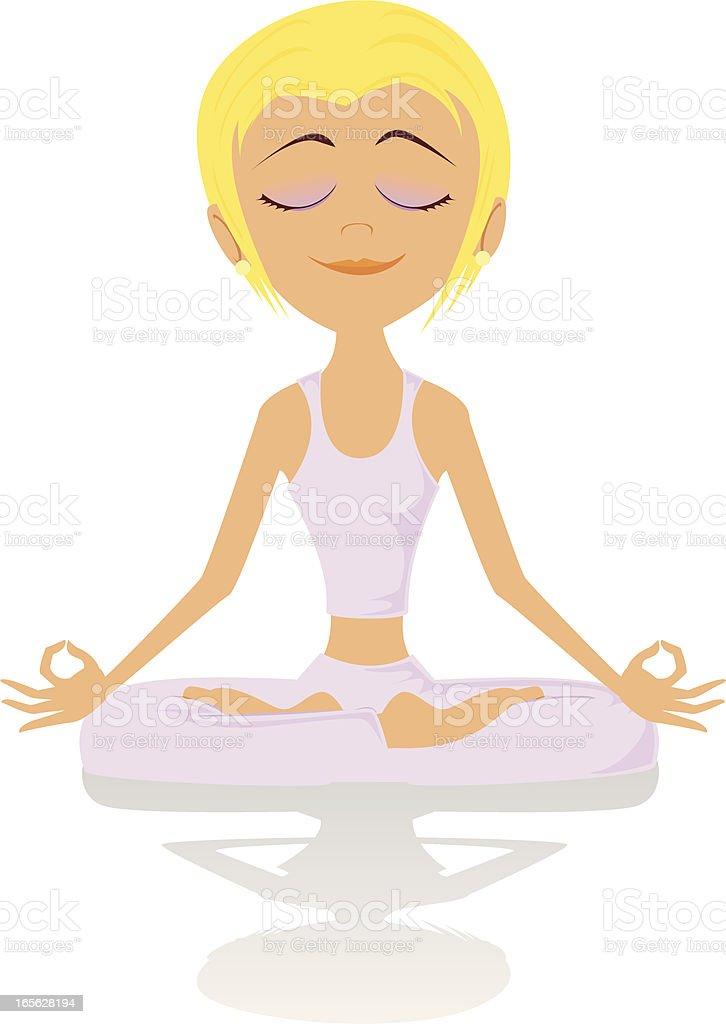 Yoga Cartoon vector art illustration