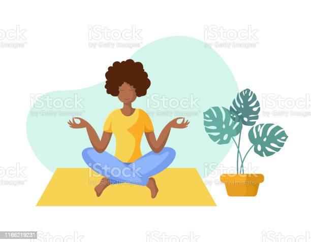 Yoga Verschillende Mensen Stockvectorkunst en meer beelden van Afrikaanse etniciteit