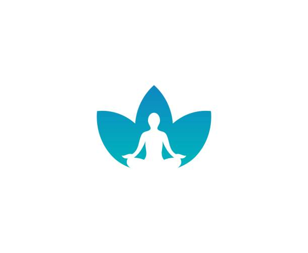 Yoga flower logo This illustration/vector you can use for any purpose related to your business. meditation stock illustrations