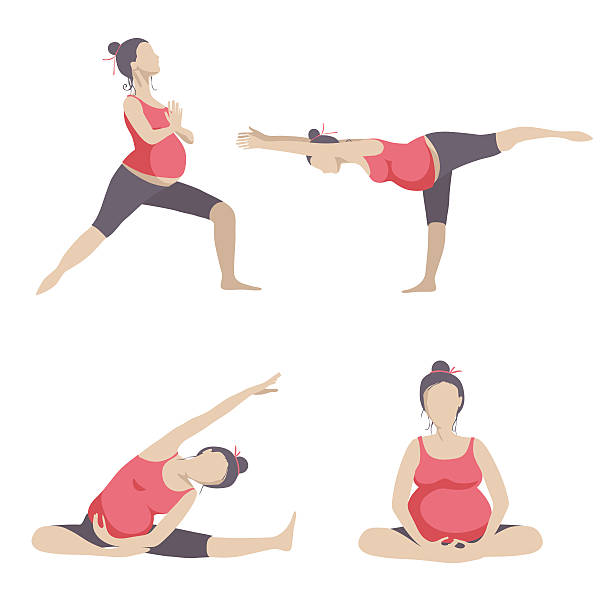 Top 60 Prenatal Yoga Clip Art, Vector Graphics And