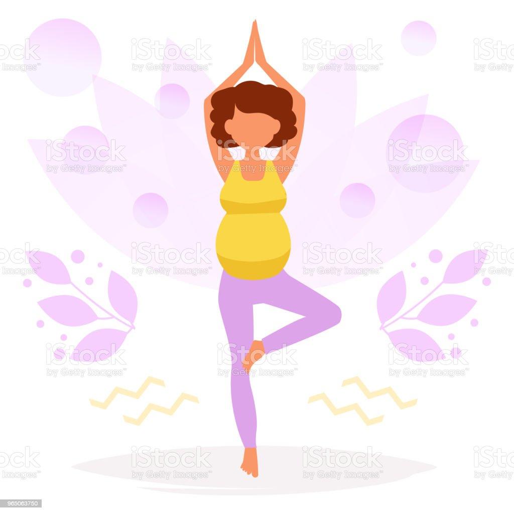 Yoga for pregnant women yoga for pregnant women - stockowe grafiki wektorowe i więcej obrazów biały royalty-free