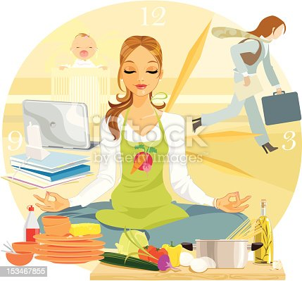 A lovely young woman tries to maintain her equilibrium amidst the frenzy of her professional and home life. Work, home, baby, chores, time-management, it just never ends!
