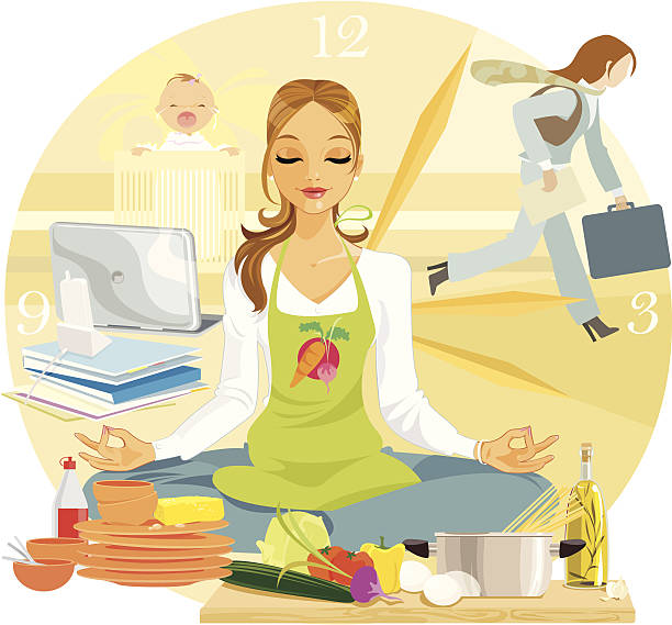 Yoga for Relaxation vector art illustration