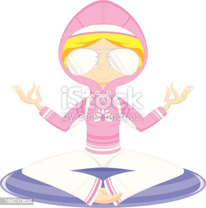Yoga Girl in Hoodie & Sunglasses