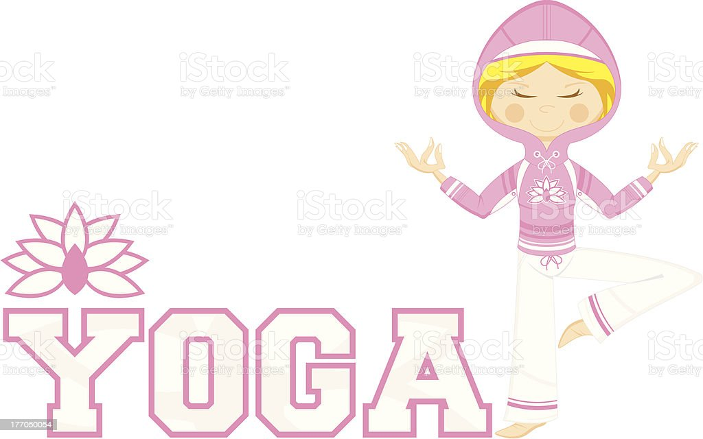 Yoga Girl Learn to Read Illustration royalty-free yoga girl learn to read illustration stock vector art & more images of adult