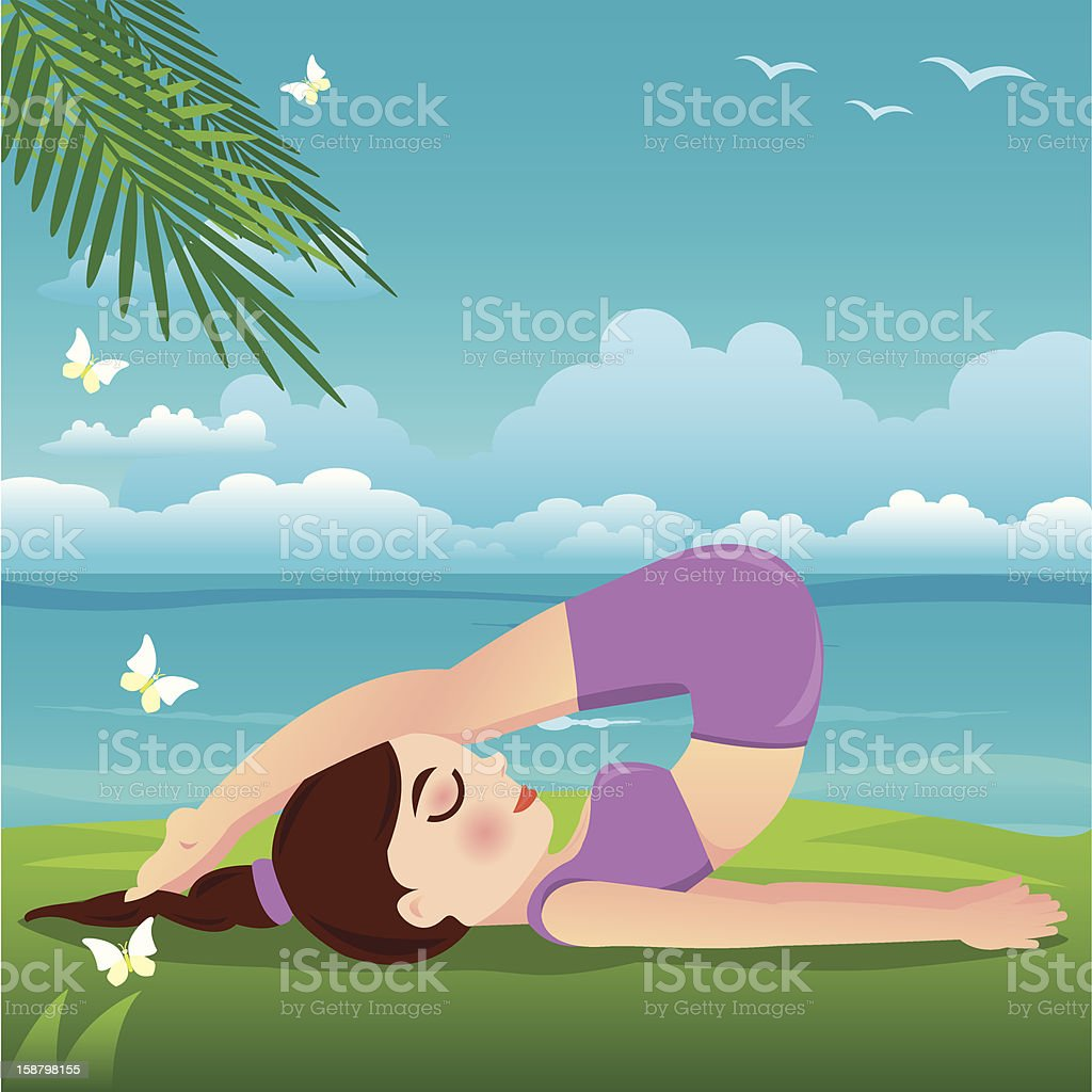 yoga girl royalty-free yoga girl stock vector art & more images of activity