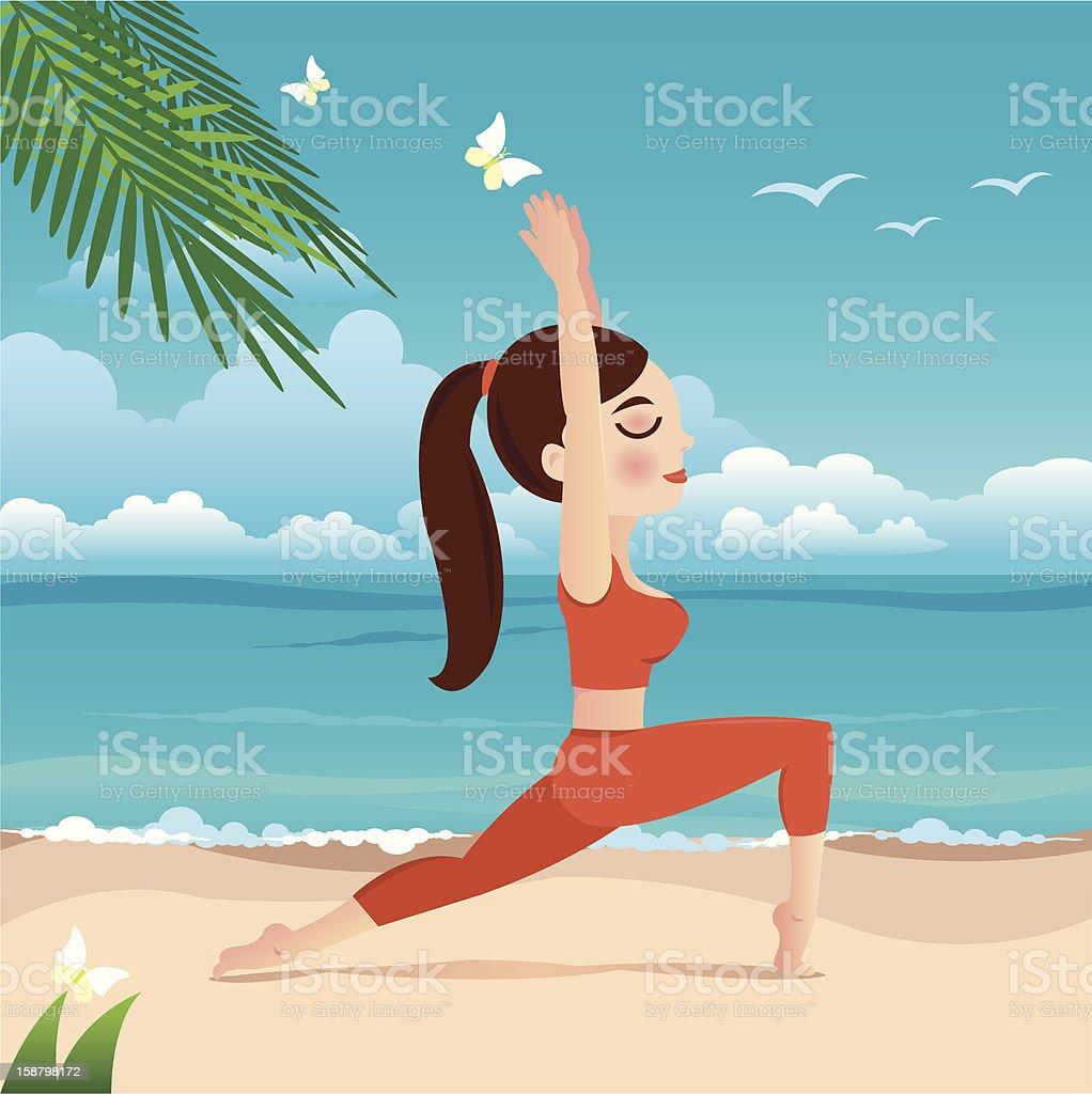 yoga girl royalty-free stock vector art