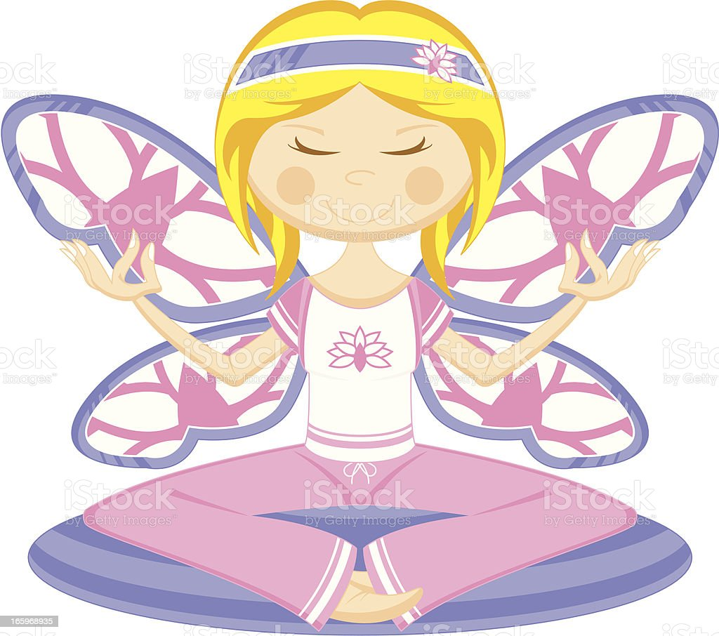 Yoga Girl with Butterfly Wings royalty-free yoga girl with butterfly wings stock vector art & more images of adult