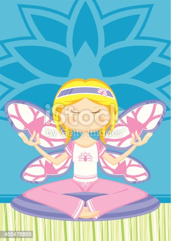 Yoga Girl with Butterfly Wings