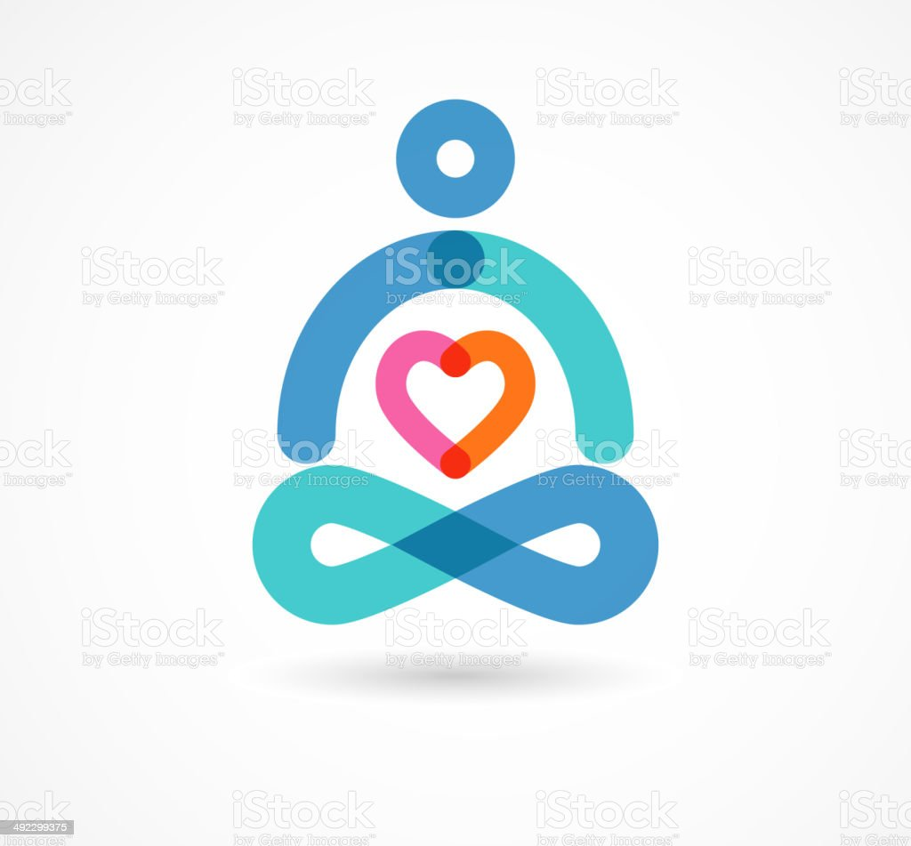 yoga icon, element and symbol royalty-free stock vector art