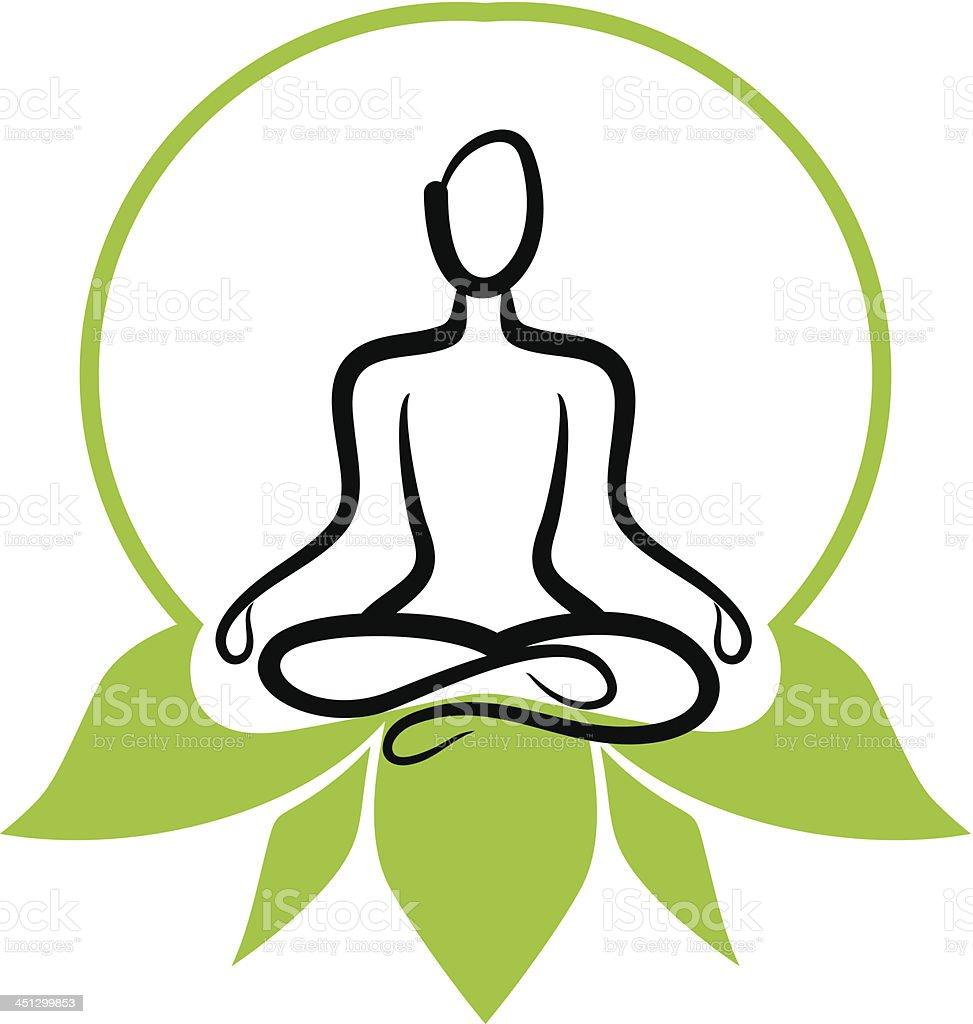 Yoga icon royalty-free stock vector art