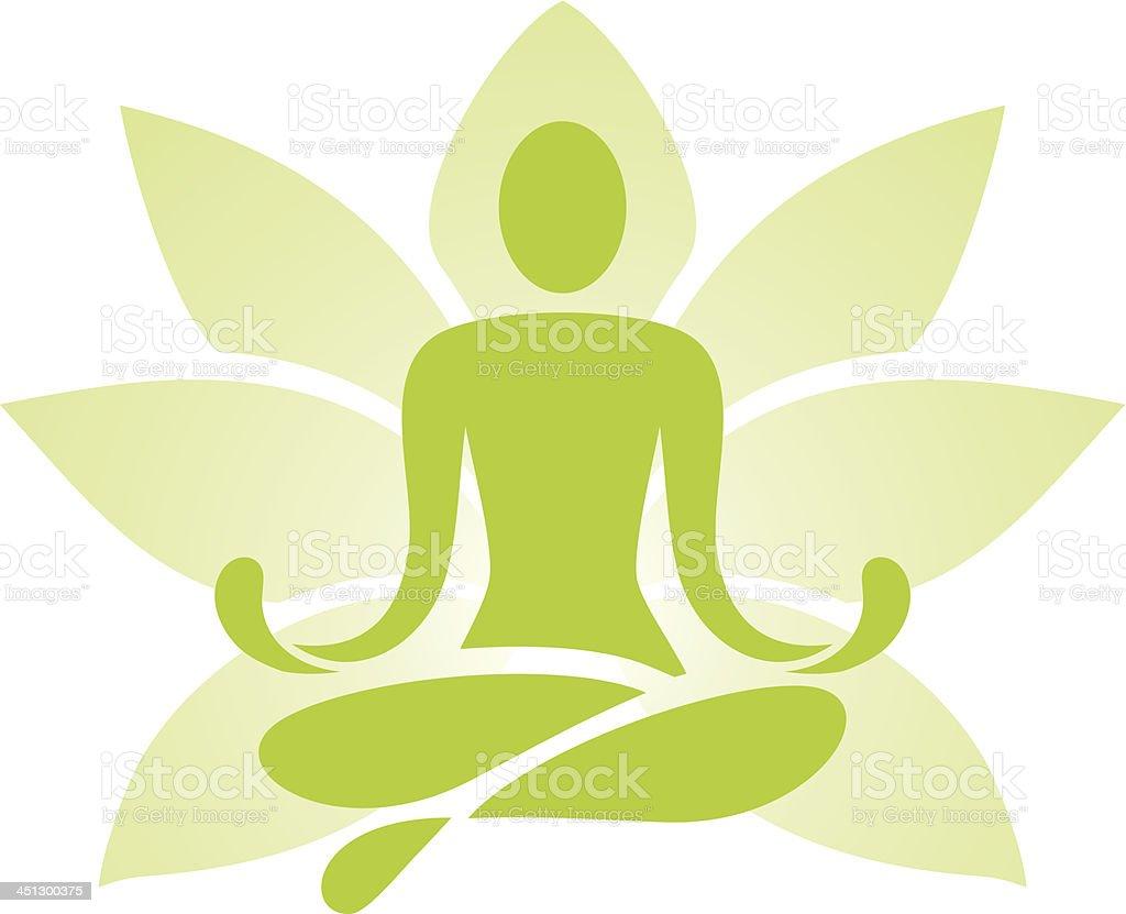 Yoga icon vector art illustration