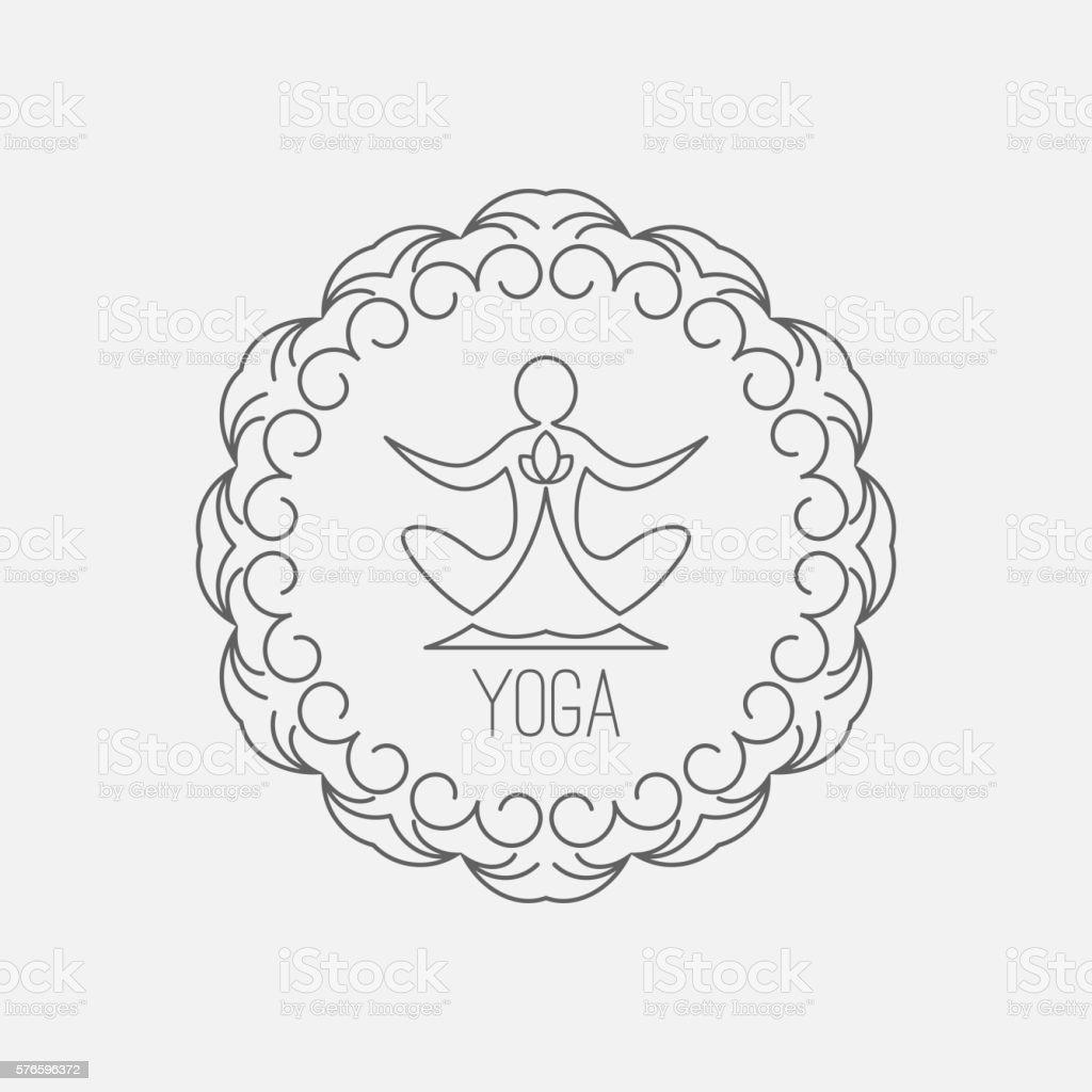 Yoga icon. Logo template. Vector logo for the spa center, yoga...
