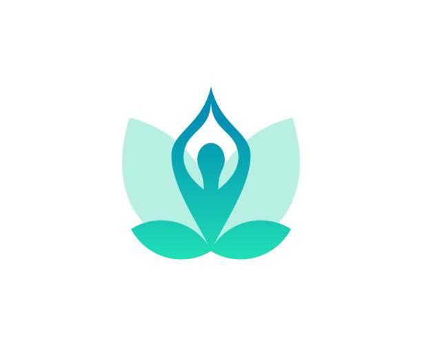 ilustrações, clipart, desenhos animados e ícones de ícone de ioga - lotus