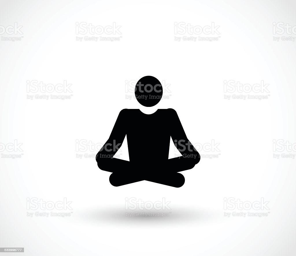 Yoga icon vector illustration vector art illustration