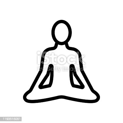 istock yoga icon vector. Isolated contour symbol illustration 1193515051