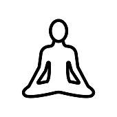 istock yoga icon vector. Isolated contour symbol illustration 1193515051