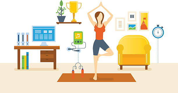 Best Animated Living Room Illustrations, Royalty-Free