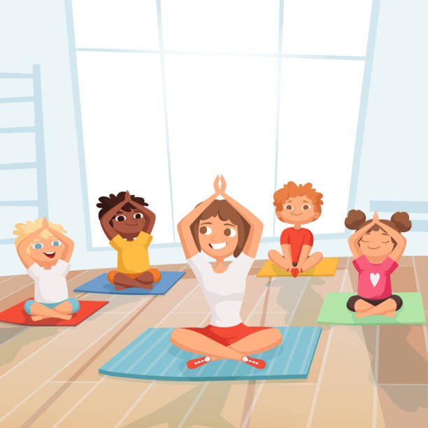 Best Kids Yoga Illustrations, Royalty-Free Vector Graphics ...