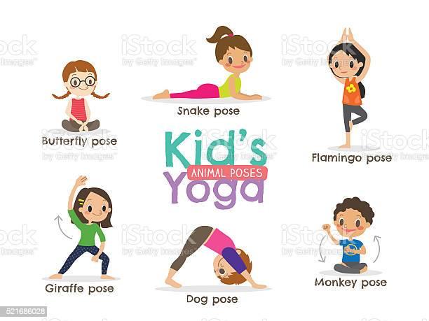 Yoga kids poses vector illustration vector id521686028?b=1&k=6&m=521686028&s=612x612&h=cjquq5qdwrot9r7ywi5phlwzxlbhbk6l6hxfggzgdke=
