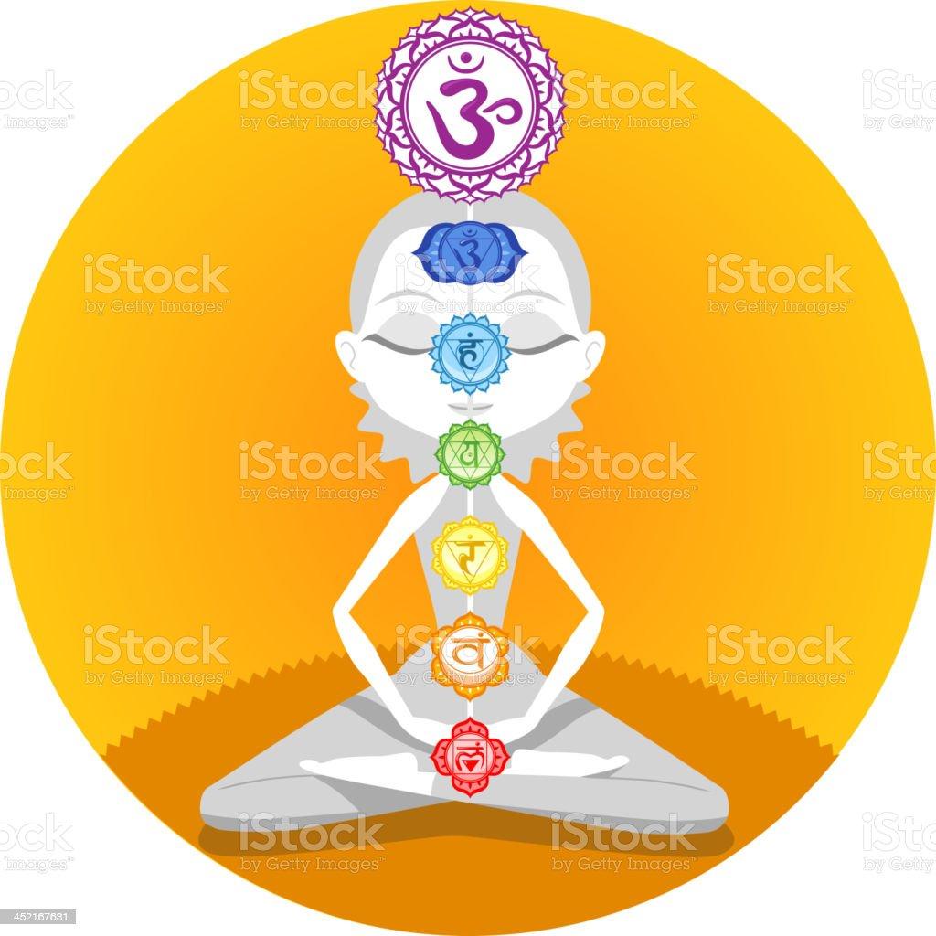 Yoga lotus chakra royalty-free stock vector art