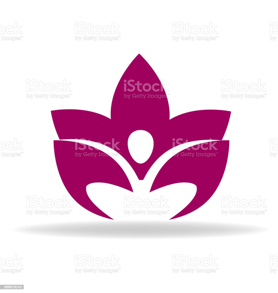 Yoga Lotus Flower Massage Icon Stock Vector Art More Images Of