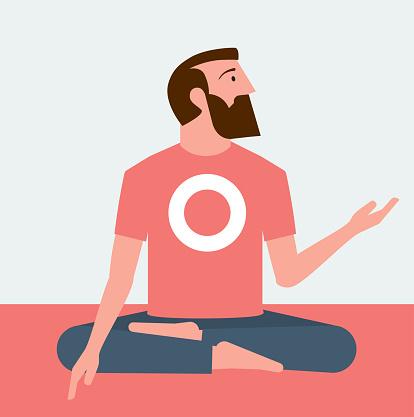 Yoga man sideview