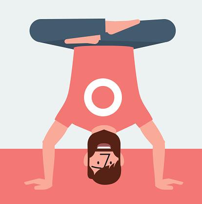 Yoga man up down