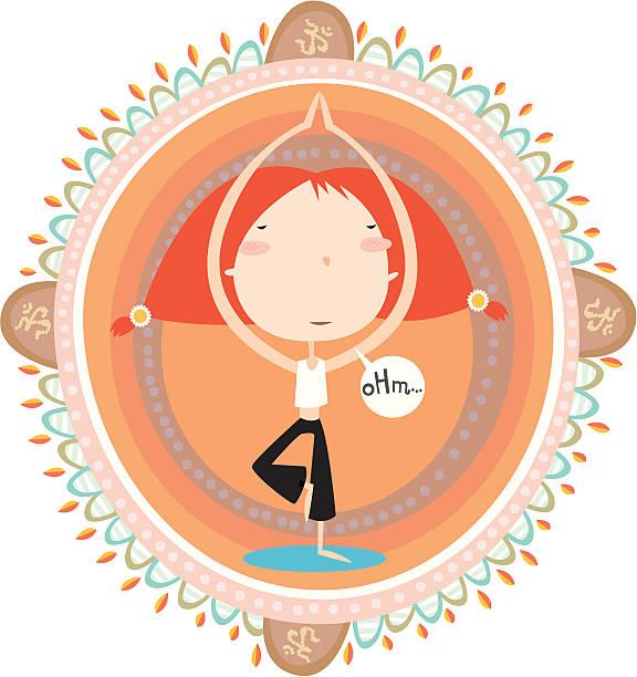 yoga mandala vektorkonstillustration