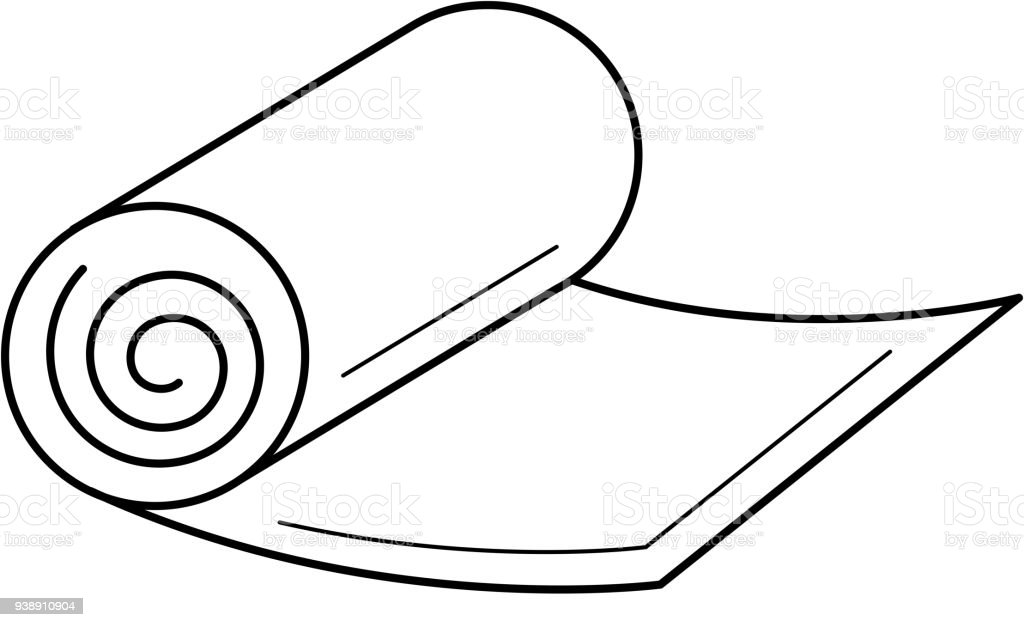 Yoga Mat Line Icon Stock Illustration Download Image Now Istock