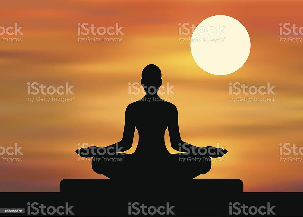 Yoga - Meditation royalty-free stock vector art