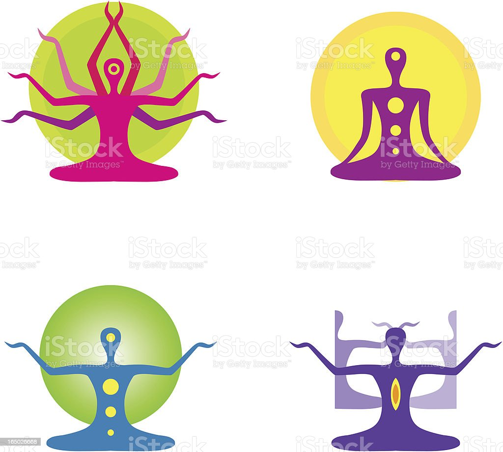 Yoga Meditation Vector Stock Art More Images Of Blue