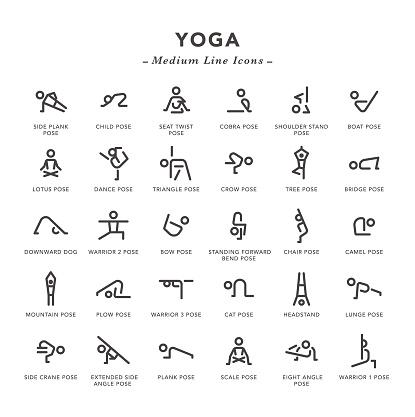 Yoga - Medium Line Icons