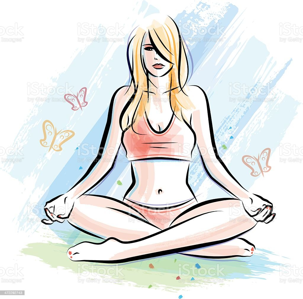 Yoga outdoors royalty-free yoga outdoors stock vector art & more images of adult