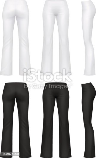 Vector illustration of yoga pants.