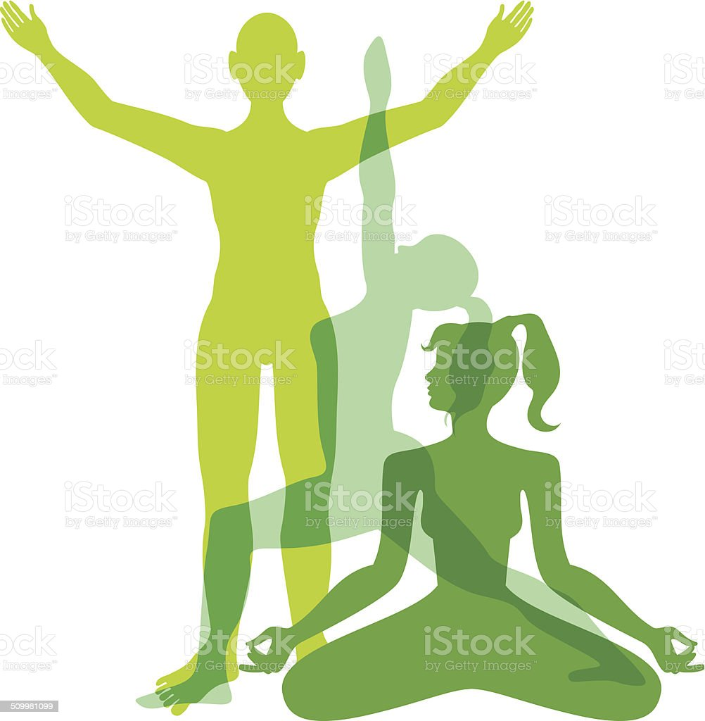Yoga people I vector art illustration