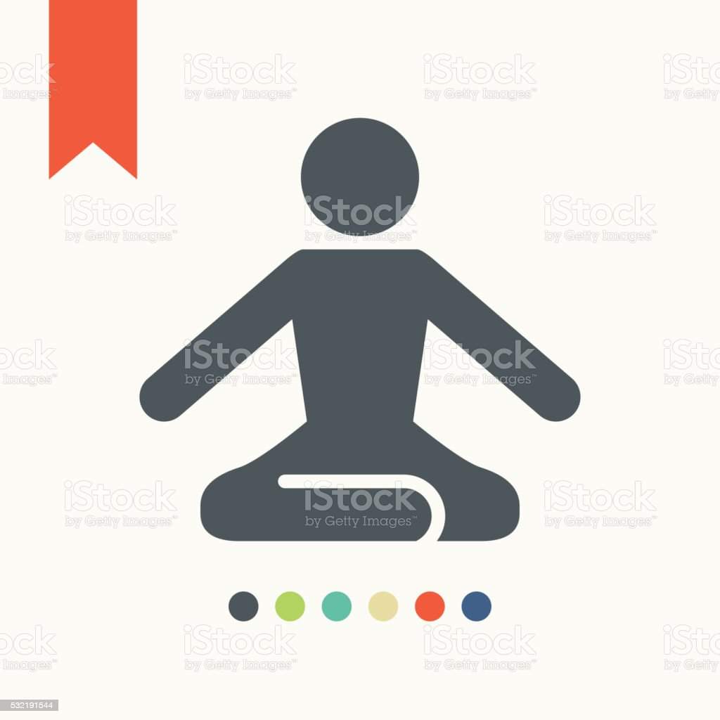 Yoga pose icon,vector illustration.